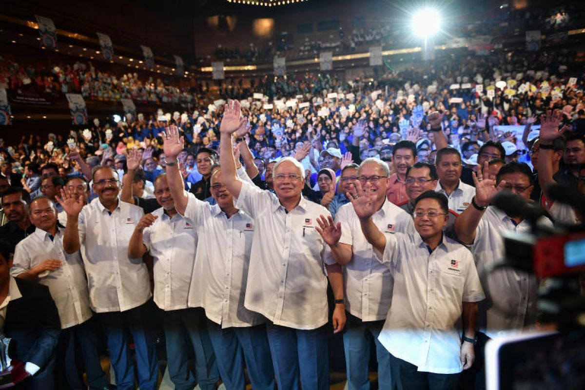 Malaysia Prime Minister Najib Razak at the Worker's Day event, on May 1, 2018 at PWTC.