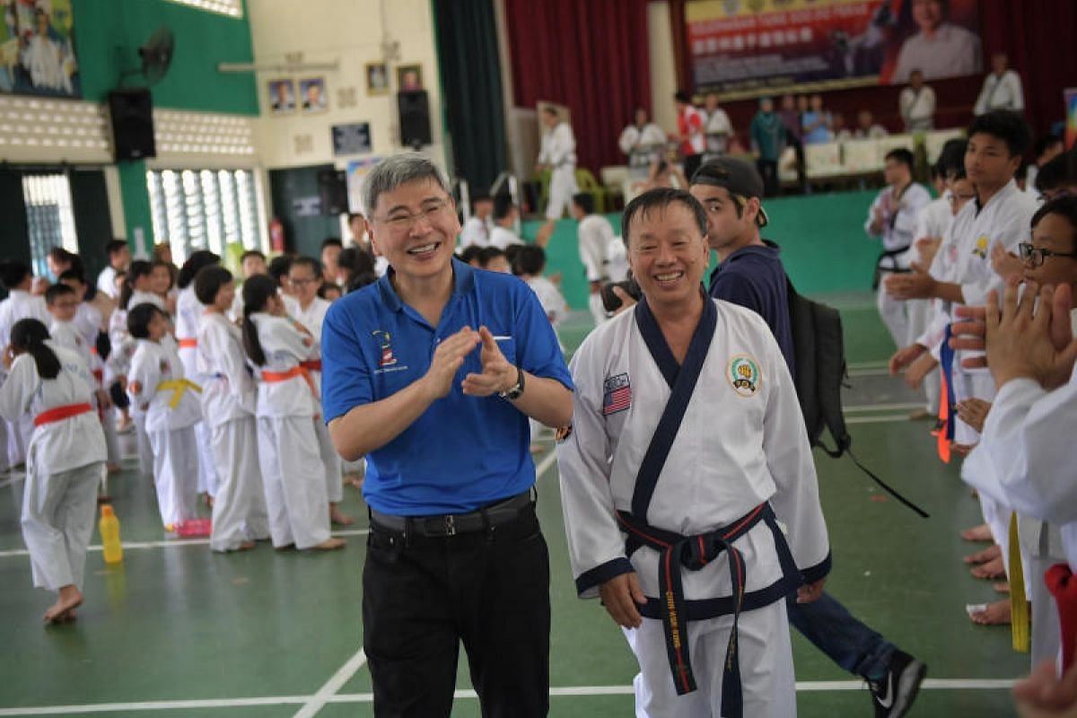 Datuk Seri Mah Siew Keong attending a Tang Soo Do championship in Teluk Intan, on April 29, 2018.