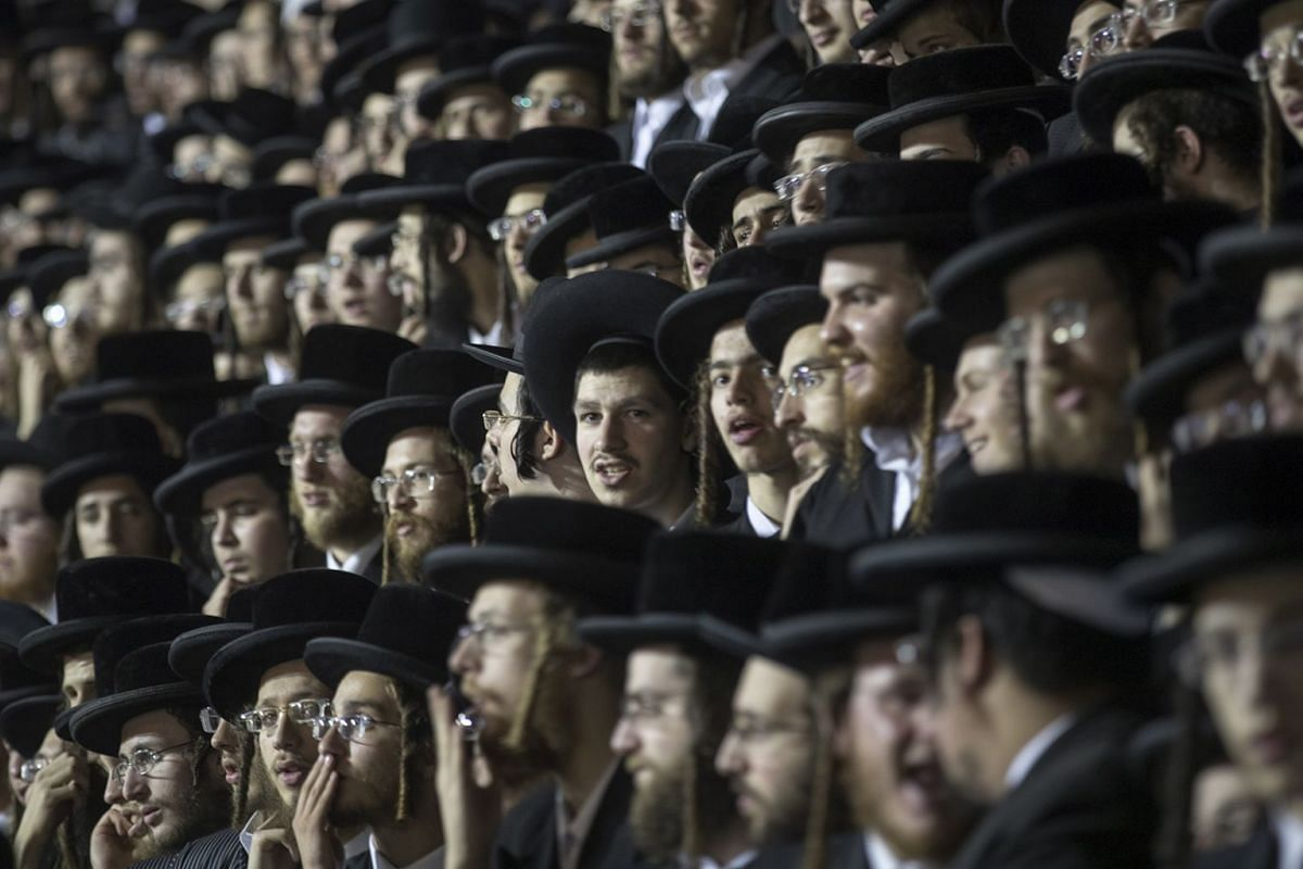Ultra-Orthodox Jewish commemorate the holy day of Lag BaOmer at their neighborhood of Mea Shearim in Jerusalem, Israel, May 2, 2018. The Ultra-Orthodox marks the day as the anniversary of the death of Rabbi Shimon bar Yochai, a sage from some 1,800 y