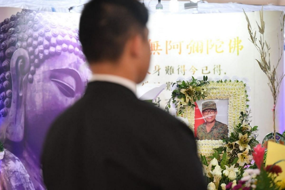 The late Corporal First Class Dave Lee Han Xuan died on April 30, close to two weeks after being admitted to Changi General Hospital for heatstroke.