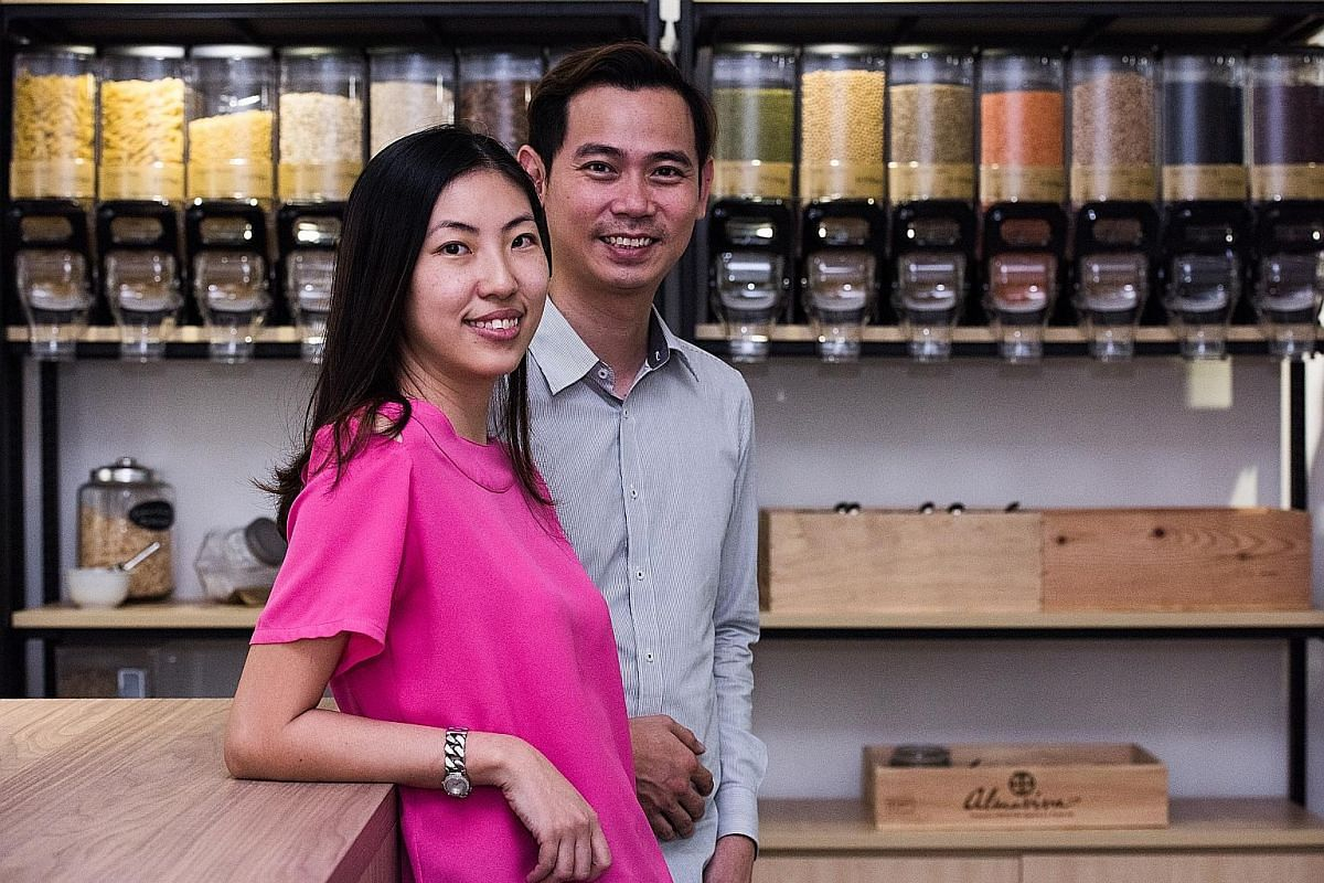 Ms Florence Tay and Mr Jeff Lam opened Singapore's first zero-waste store, Unpackt.