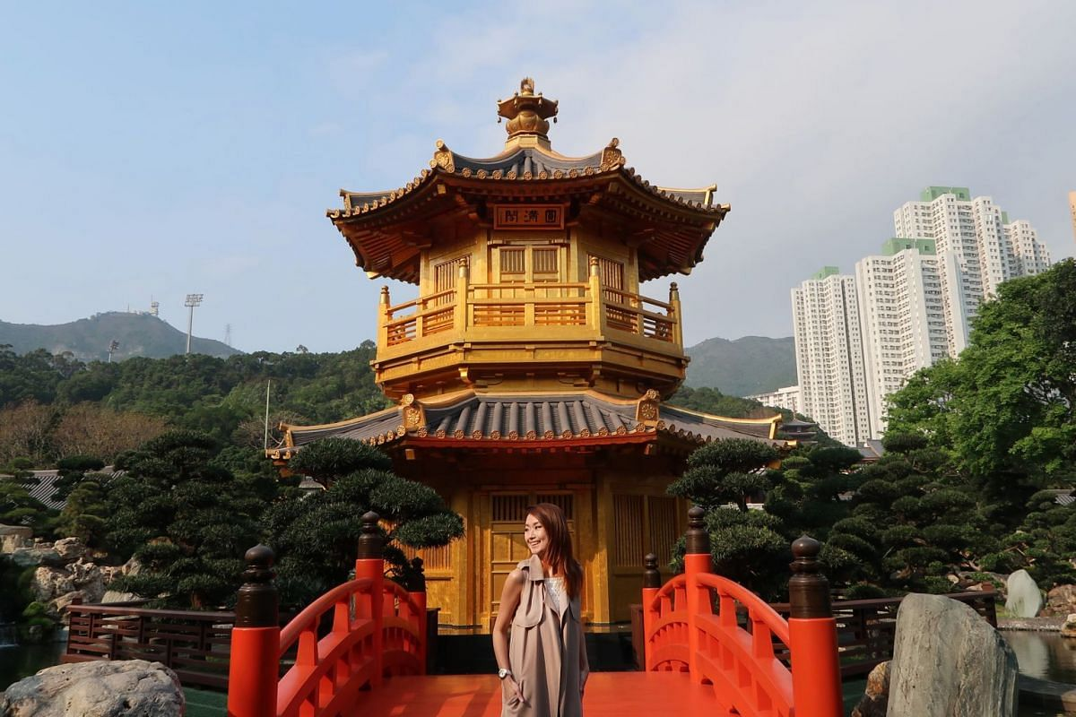 Photographer Ms Eunice Lim at Nan Lian Garden in Hong Kong. She moved to the city in 2015.