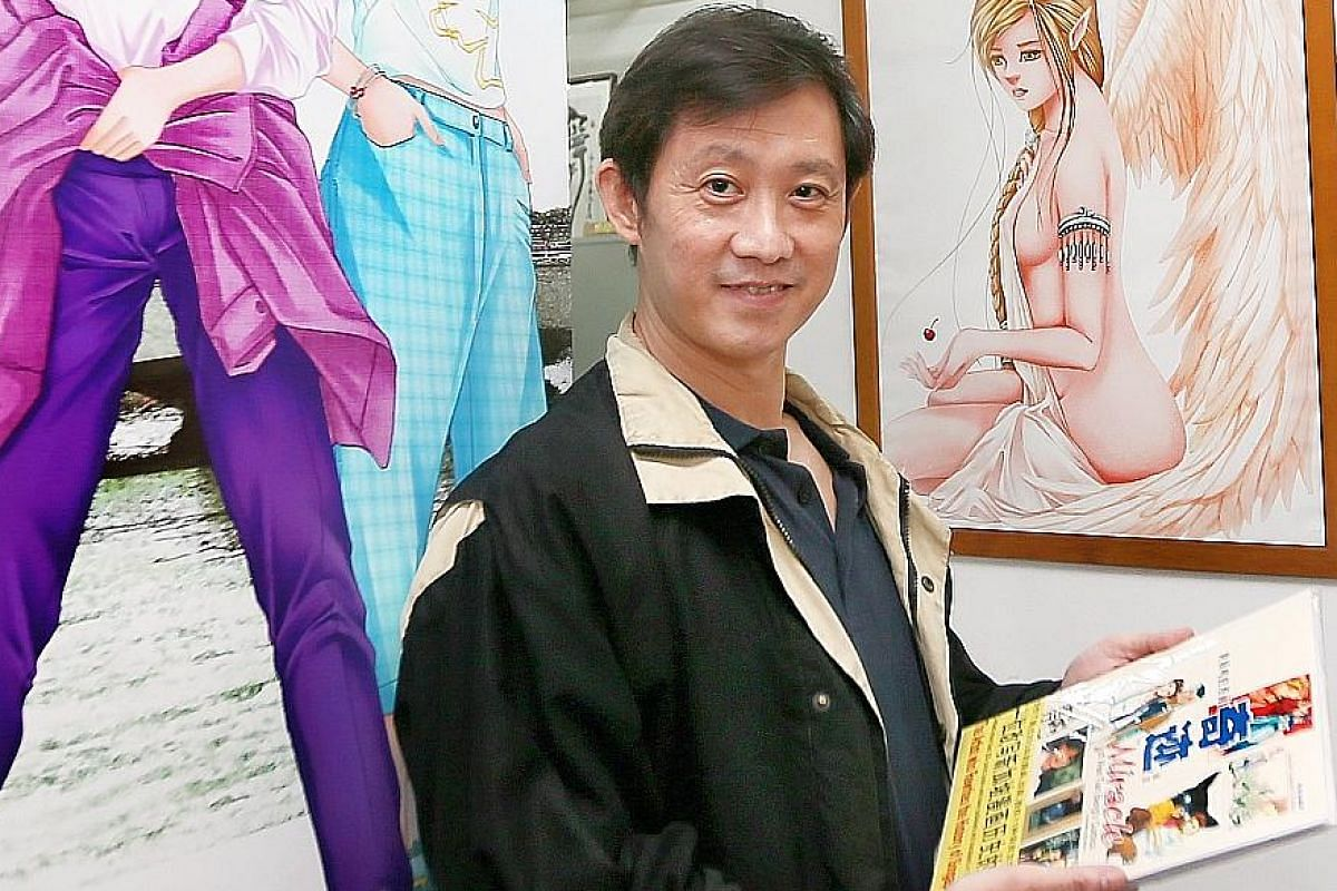 Singapore comic veteran Wee Tian Beng (above) is behind The Celestial Zone, whose characters (below) battle evil forces with their extraordinary powers.