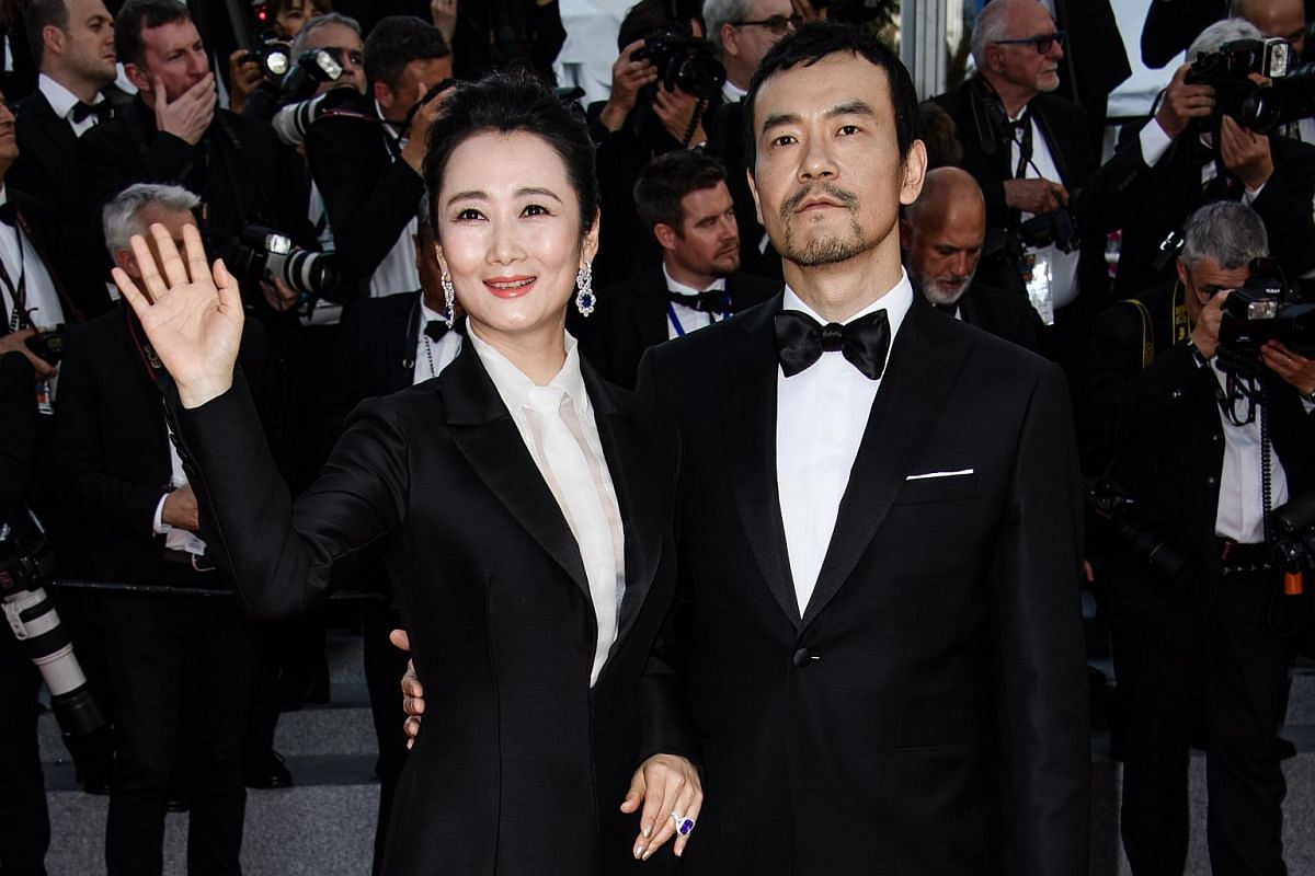 Zhao Tao (left) and Liao Fan (right) arrive for the screening of Everybody Knows (Todos Lo Saben) and the opening ceremony of the 71st annual Cannes Film Festival in Cannes, France, on May 8, 2018.