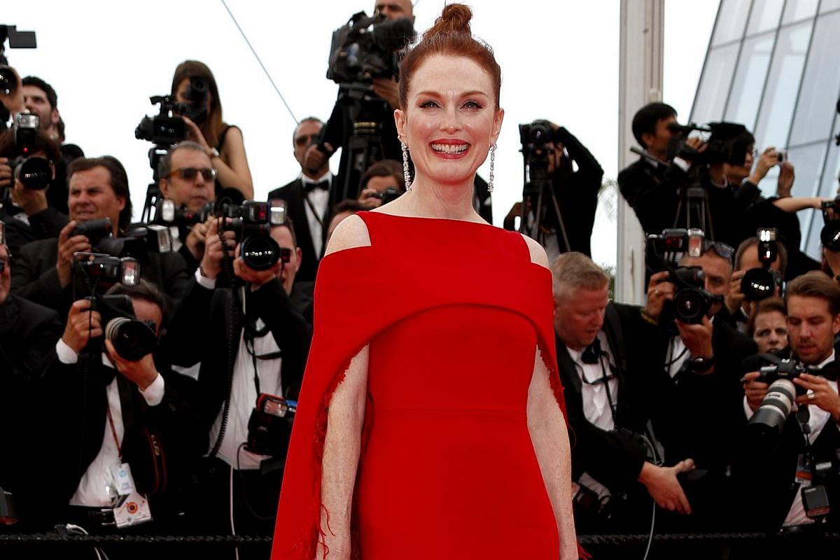 Julianne Moore arrives for the screening of Everybody Knows (Todos Lo Saben) and the opening ceremony of the 71st annual Cannes Film Festival in Cannes, France, on May 8, 2018.