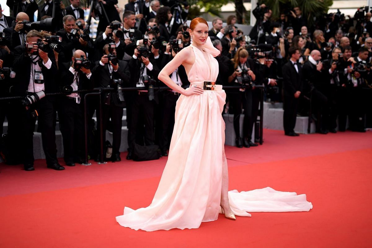 Barbara Meier arrives for the screening of Everybody Knows (Todos Lo Saben) and the opening ceremony of the 71st annual Cannes Film Festival in Cannes, France, on May 8, 2018.