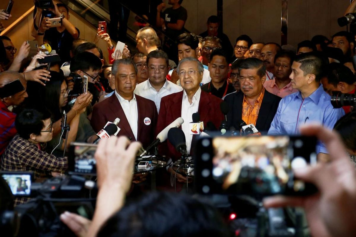 Former Malaysian Prime Minister Mahathir Mohamad attending a news conference in Petaling Jaya, Malaysia on May 9, 2018.