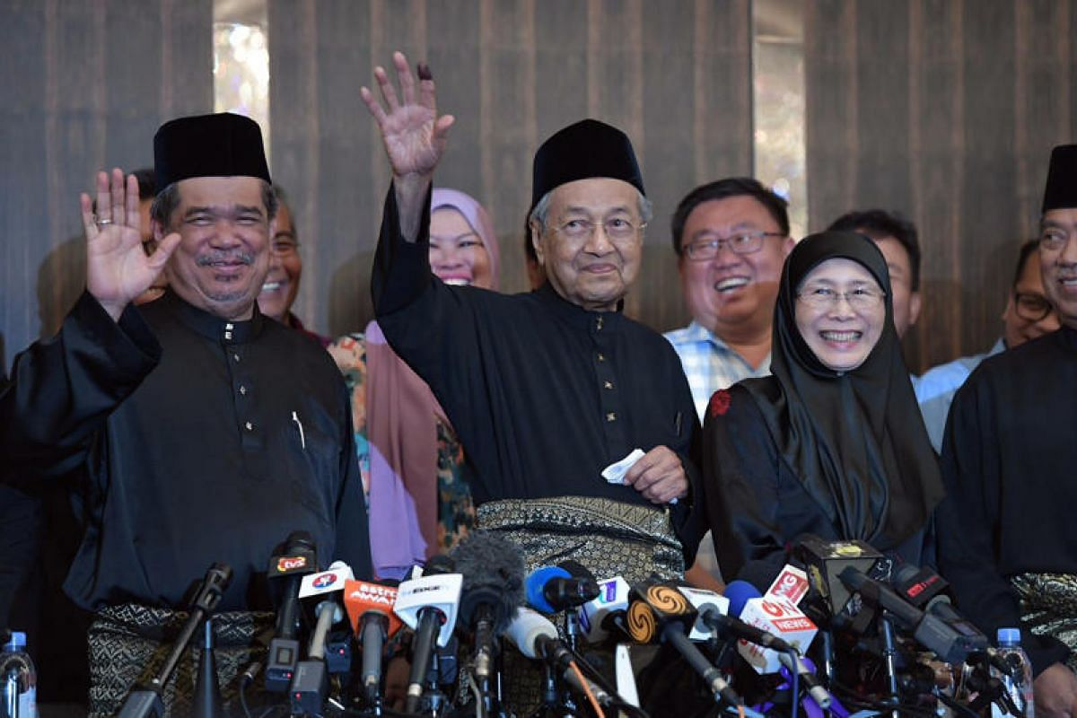 Tun Dr Mahathir Mohamad at the press conference after being sworn in as Malaysia's seventh Prime Minister at the Sheraton Hotel in Petaling Jaya on May 10, 2018.