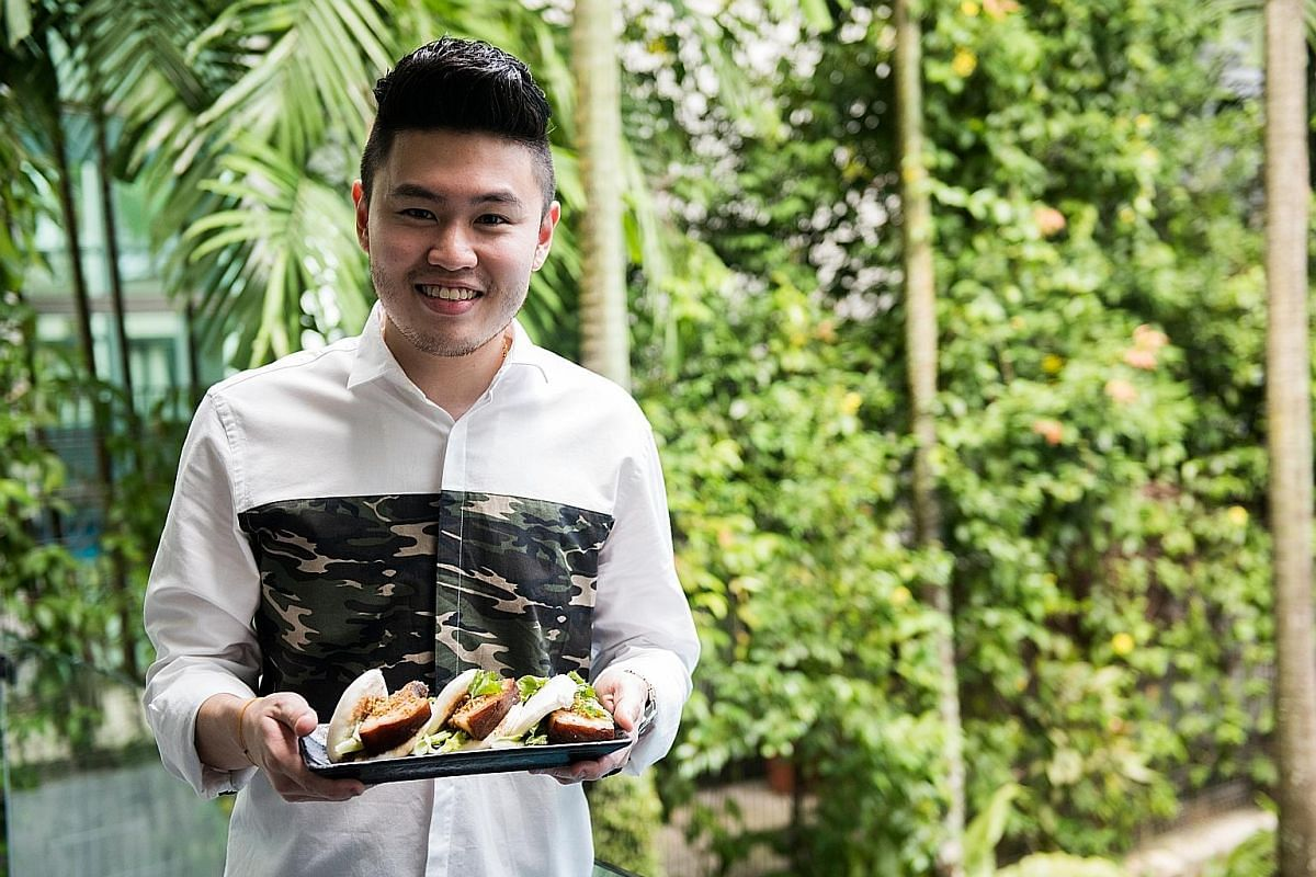 Mr Sean Lim, who runs Mojo in Telok Ayer, refers to his father's recipes when cooking.
