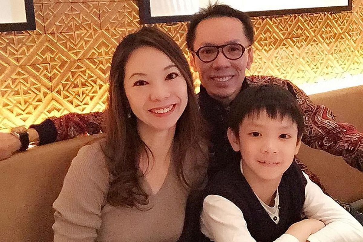 Their son Leo, who is in Primary 5, will be enrolled in Elmhurst Ballet School in the United Kingdom. Mr Cheng Hsienfa and Ms Tan Yaling in their early 20s (above) and at a rehearsal at the National Theatre of Taiwan.
