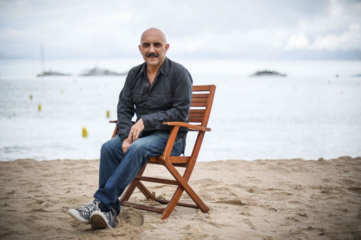 Argentinian-Italian director Gaspar Noe poses during a photo session for his film Climax.