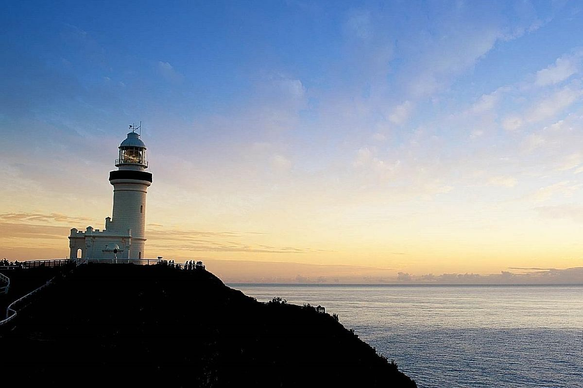The lighthouse at Byron Bay is a great spot for taking photos and enjoying a good view of the ocean.