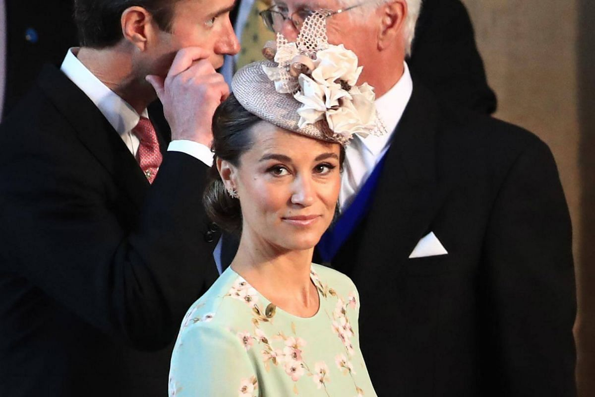 Pippa Middleton arrives for the wedding ceremony at St George's Chapel, on May 19, 2018.