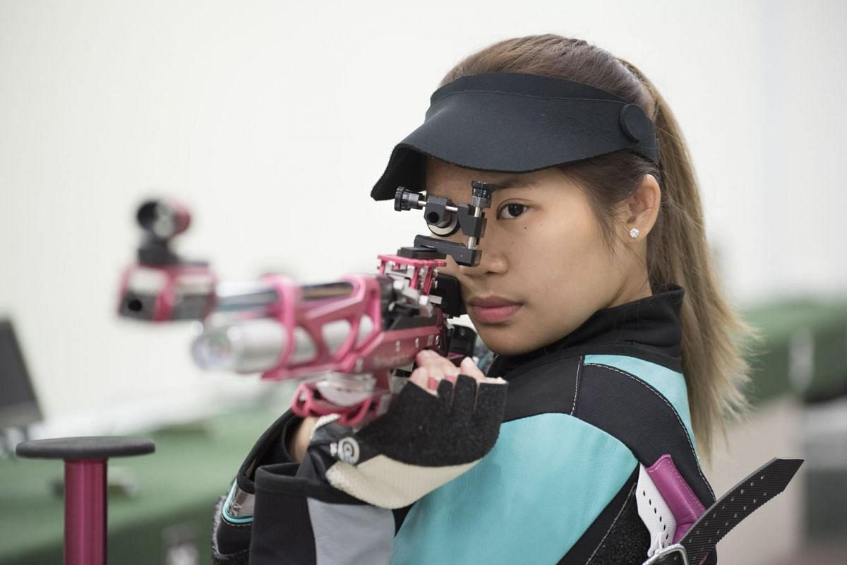 Full-time Nanyang Polytechnic student Martina Veloso trains five days a week and up to two sessions a day.