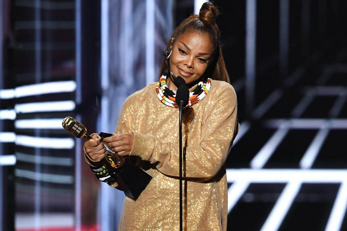 Honoree Janet Jackson accepts the Icon Award onstage during the 2018 Billboard Music Awards, on May 20, 2018.