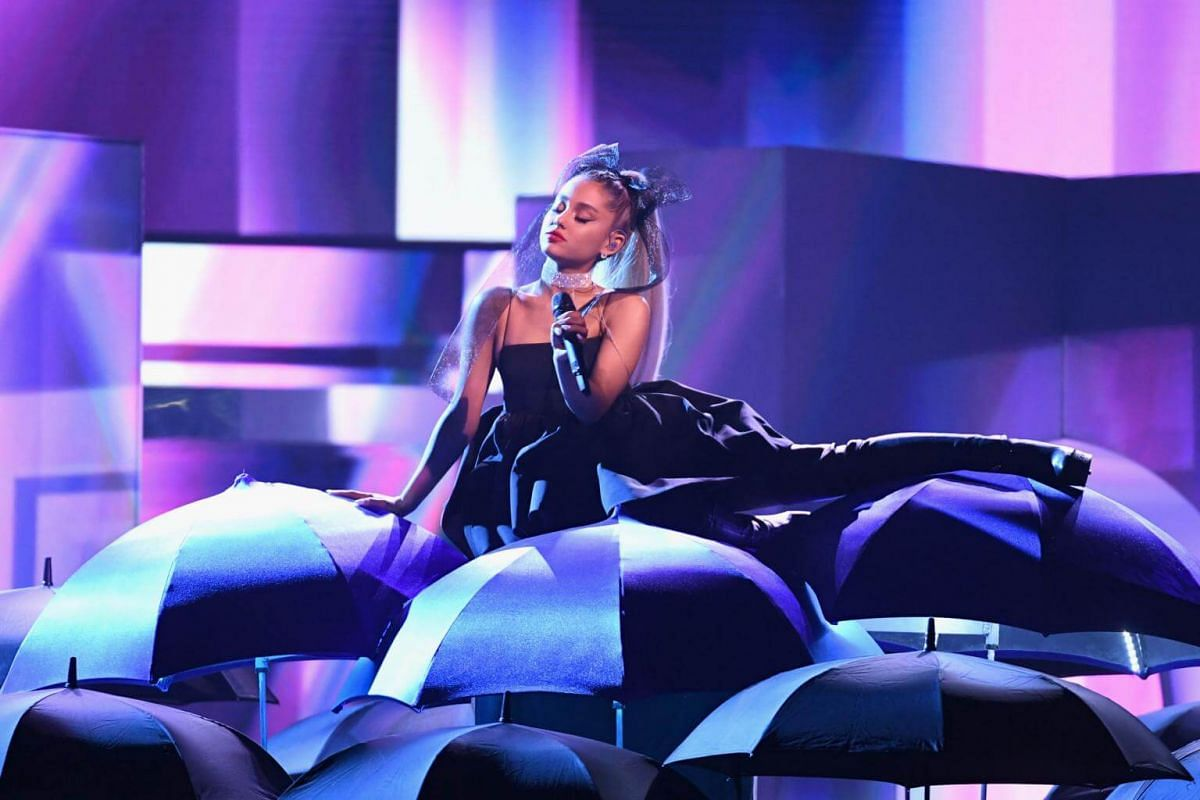Ariana Grande  performs onstage during the 2018 Billboard Music Awards, on May 20, 2018.