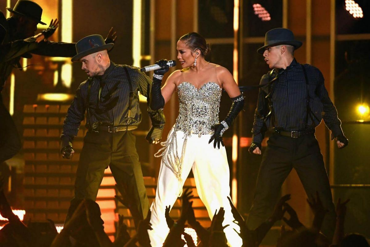 Jennifer Lopez performs during the 2018 Billboard Music Awards, on May 20, 2018.