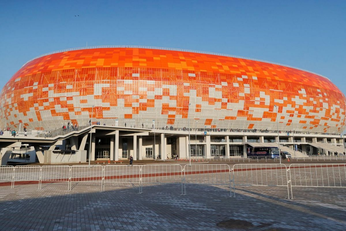 A view of the Mordovia Arena that can host 44,000 spectators during the 2018 World Cup.