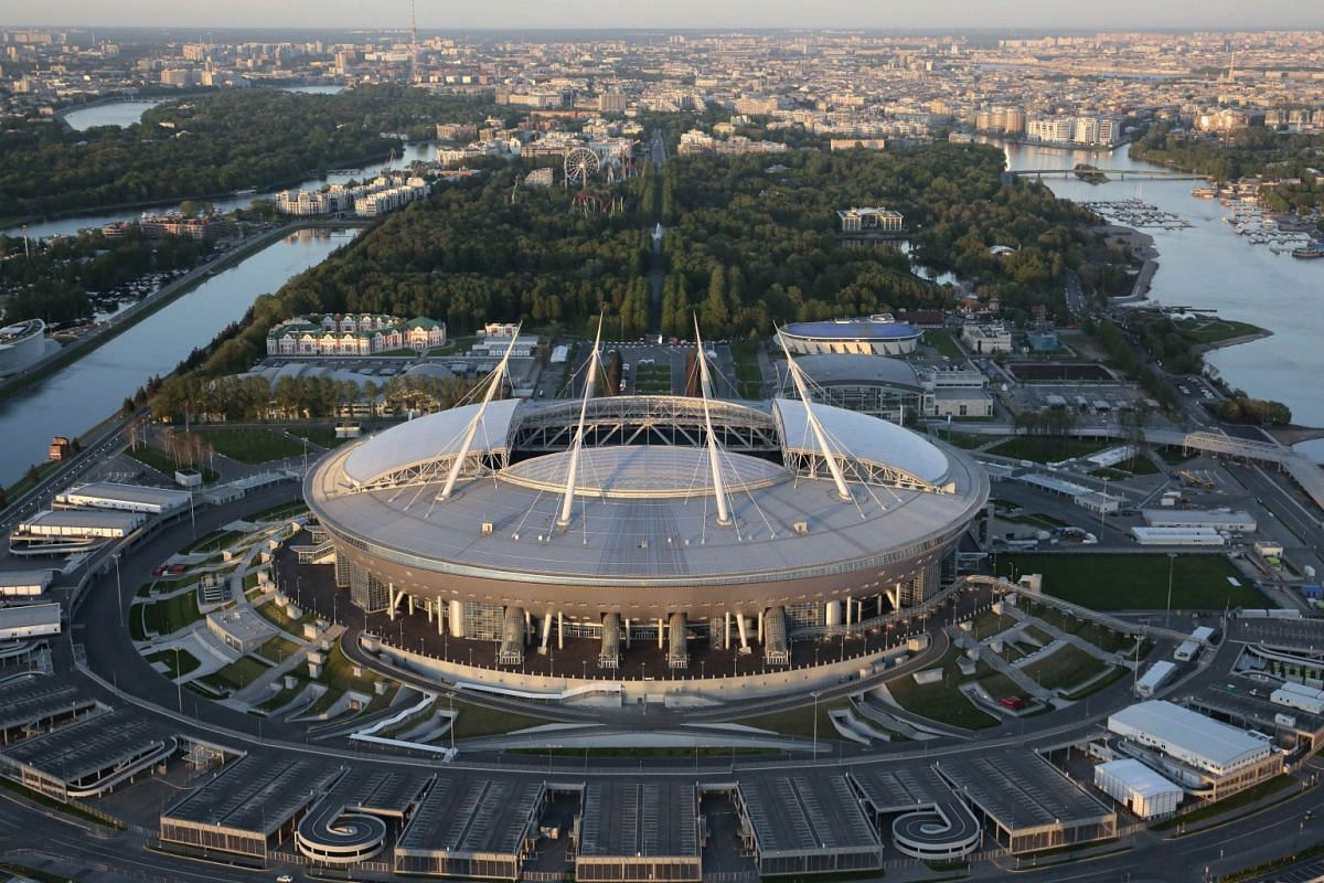 The 64,000-seater St Petersburg Stadium in St Petersburg, Russia, on May 19, 2018.