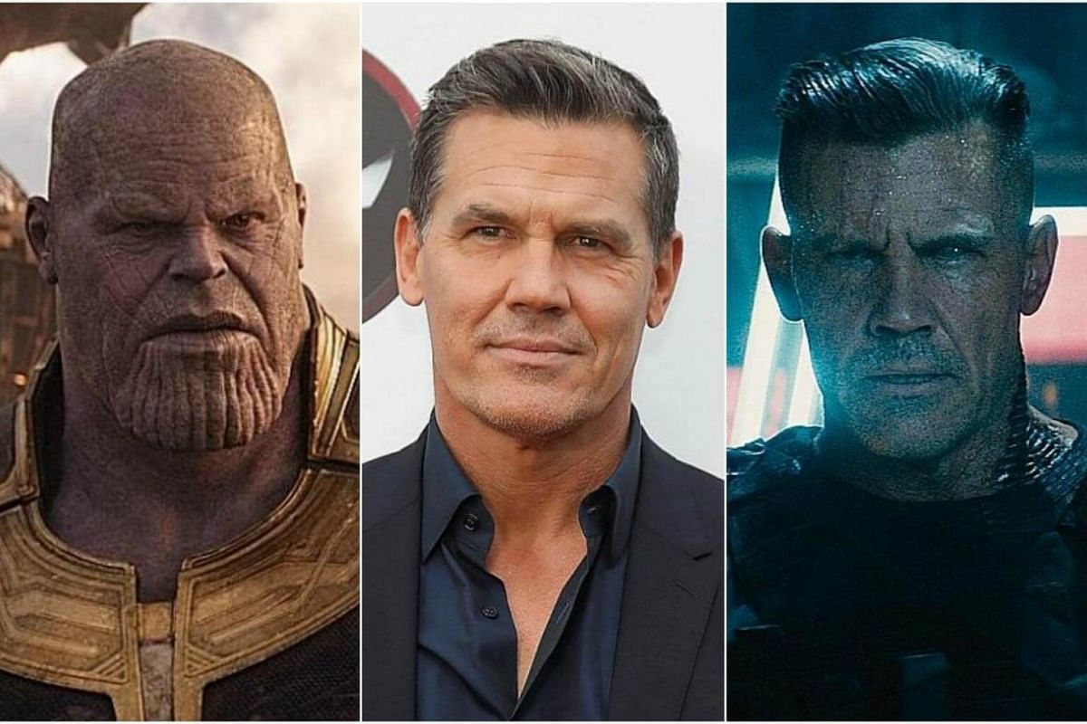 Josh Brolin as Thanos (left) and Cable (right).