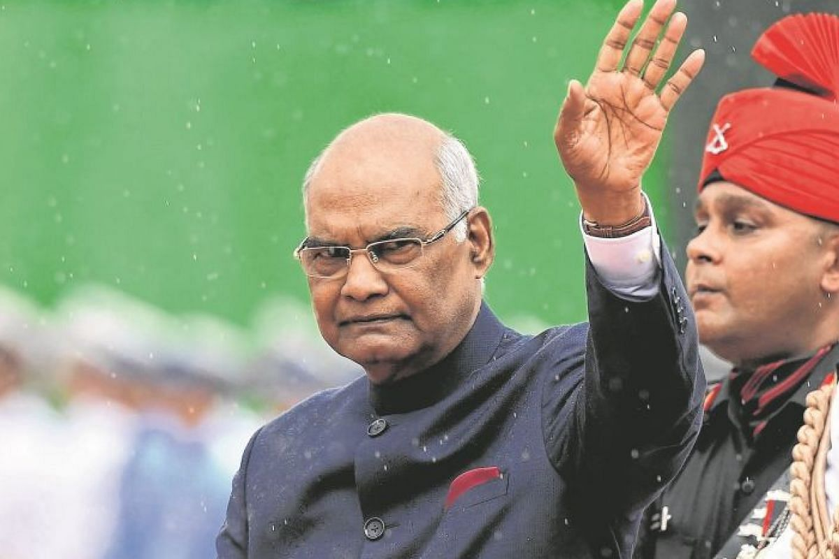 India's President Ram Nath Kovind inspecting a guard of honour during a ceremony at the Presidential Palace in New Delhi on July 25 last year. He was sworn in as India's president that day, becoming just the second leader from the oppressed Dalit