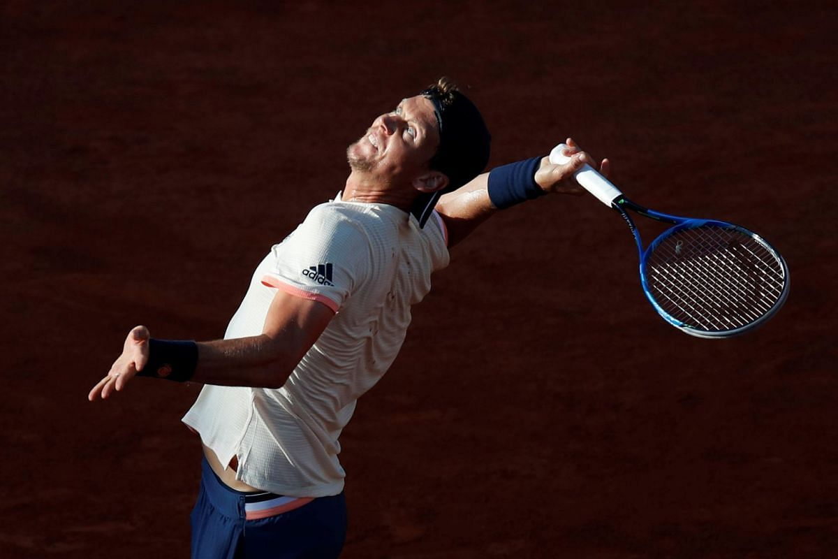 Czech Republic's Tomas Berdych in action during his first round match against France's Jeremy Chardy during the French Open tennis tournament at Roland Garros in Paris, France, May 29 2018. Photo: REUTERS