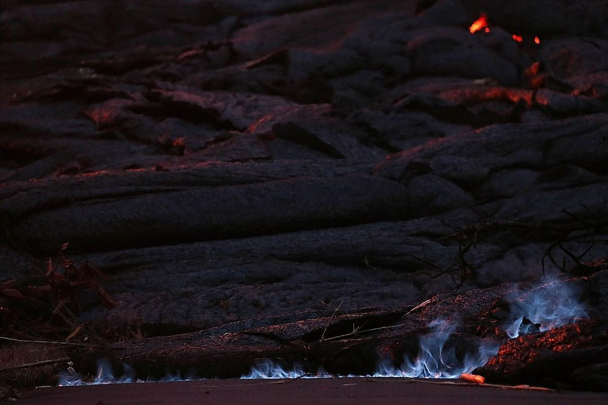 HOW HOT IS LAVA?Lava erupts from Kilauea on May 23. The temperature of lava varies, but scientists can estimate its temperature by its colour. Geophysicist Mika McKinnon said yellow lava is the hottest, at somewhere between 1,000 and 1,200 deg C, whi