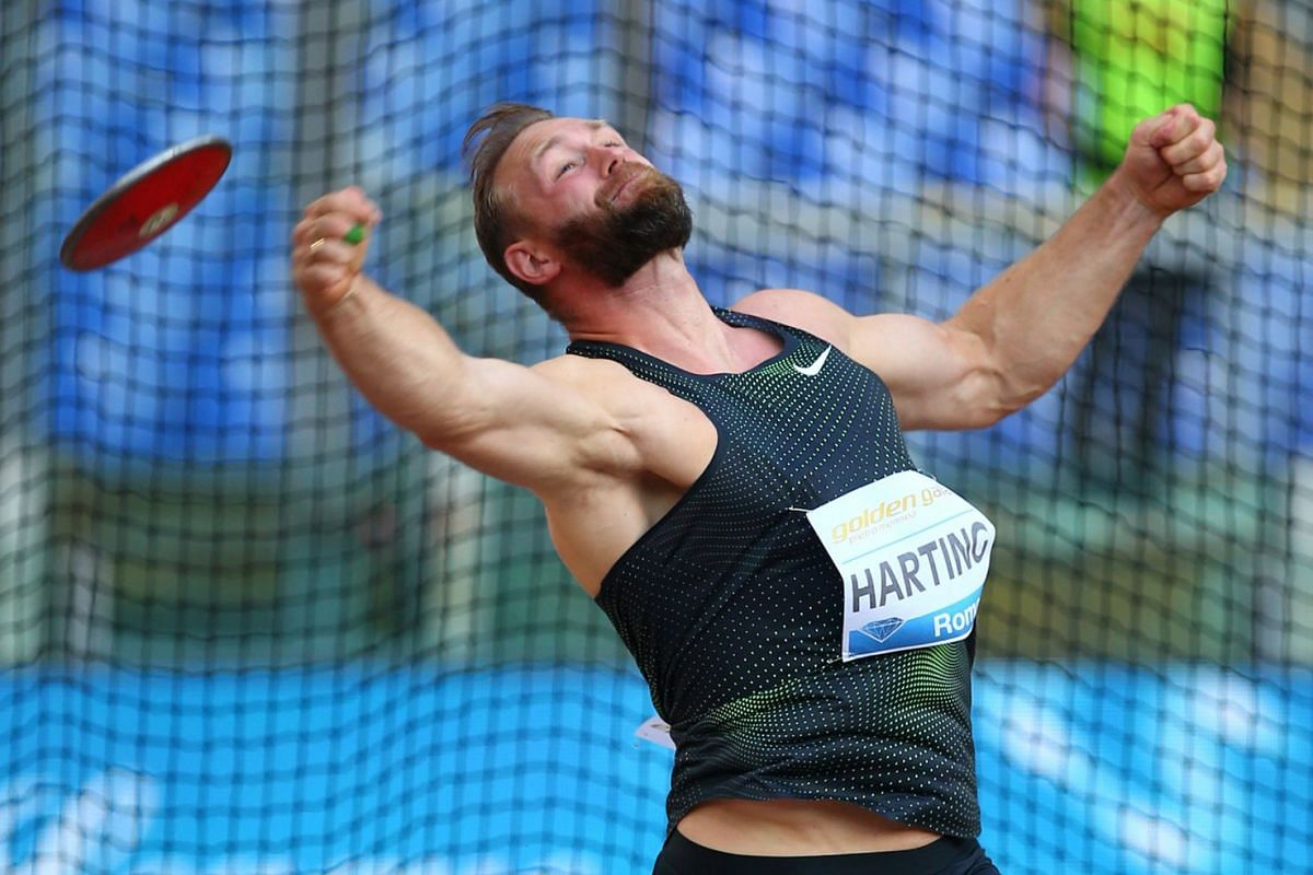 Germany's Robert Harting in action during the Men's Discus event of the  IAAF Diamond League Golden Gala at Stadio Olimpico, Rome, on May 31, 2018. Photo: REUTERS