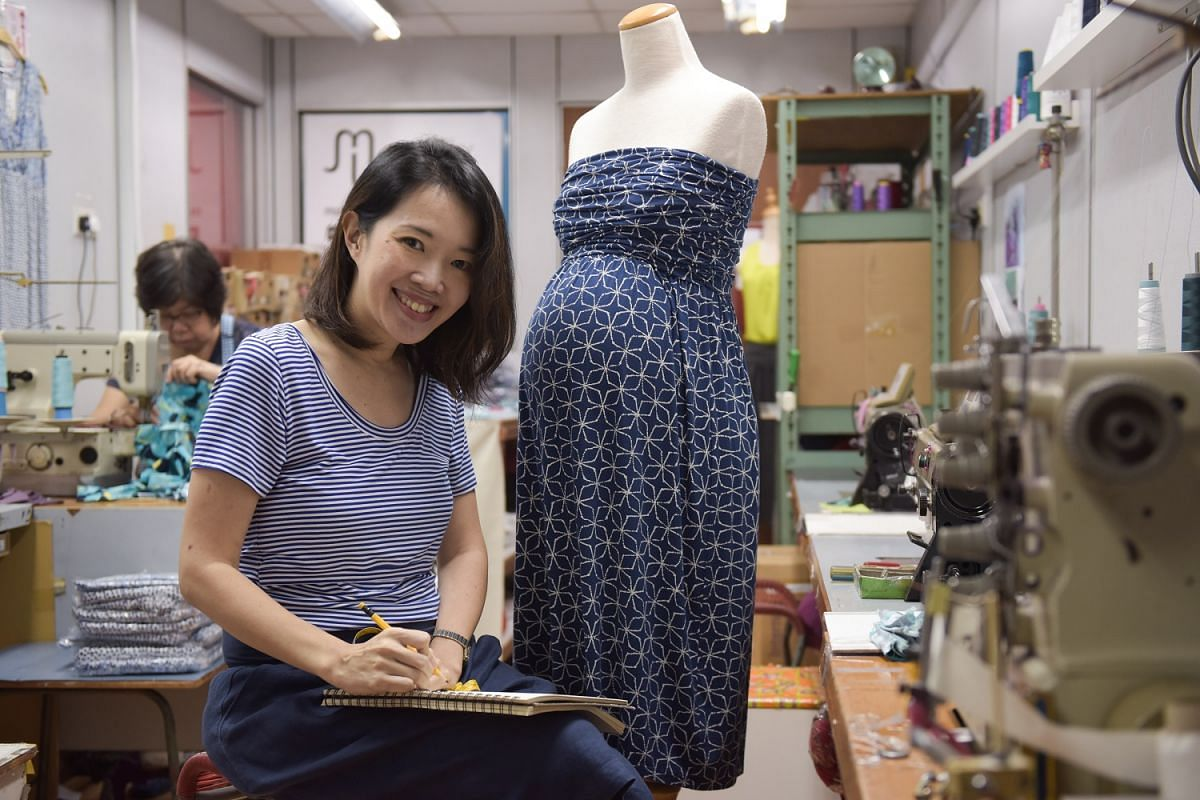 Milky Way, a maternity and nursing wear line started by Ms Kay Wong (above), designs its clothes in classic styles that mums can wear even after they have given birth.