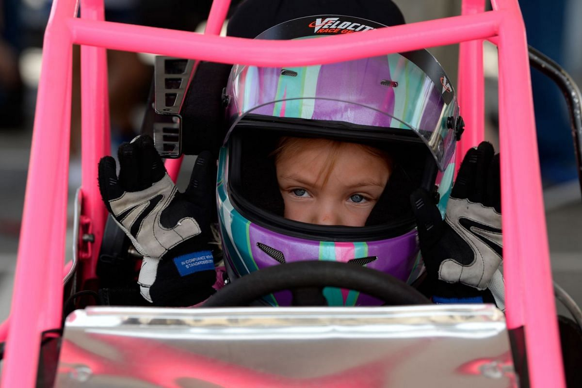 Youths participate in the USAC Quarter Midgets at Texas Motor Speedway on June 7, 2018 in Fort Worth, Texas. PHOTO: GETTY IMAGES/AFP