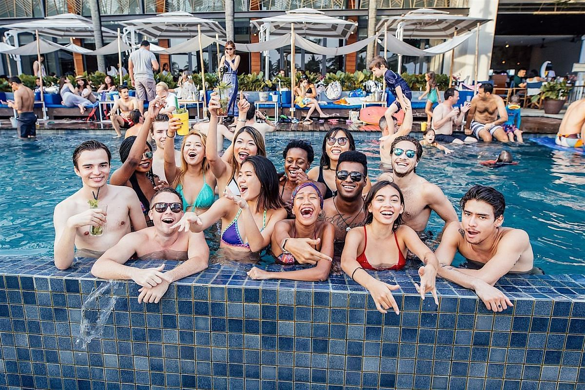 Tanjong Beach Club (120 Tanjong Beach Walk) is a beachfront playground with pools, champagne and plentiful partying.