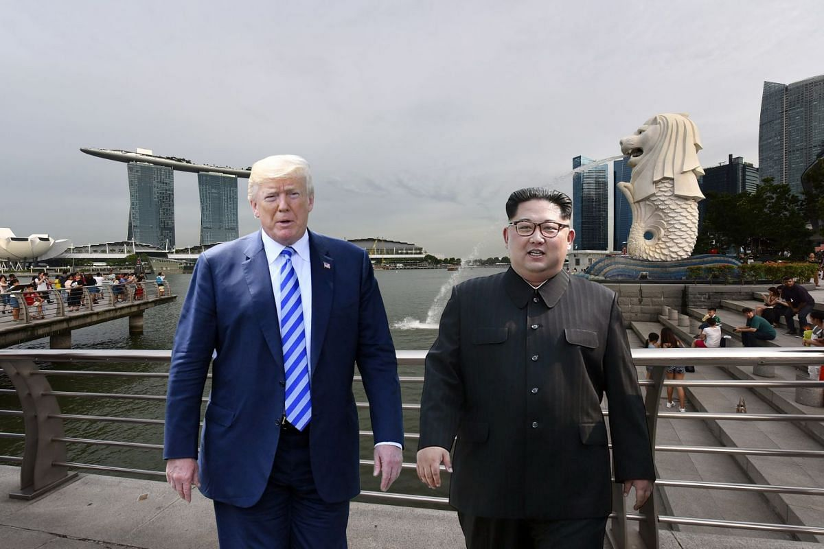 One for the album: Will United States President Donald Trump and North Korean leader Kim Jong Un take a photograph together at Merlion Park?