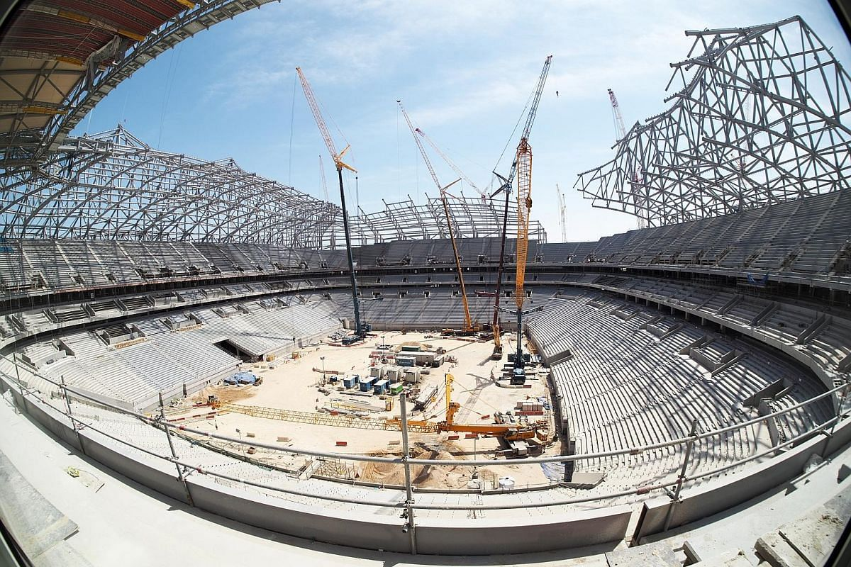 Al-Bayt Stadium is one of the eight football stadiums which are being built for the 2022 Fifa World Cup to be hosted by Qatar. It is meant to resemble the interior of a traditional Bedouin tent. The US$7.4 billion (S$10 billion) Hamad megaport launch