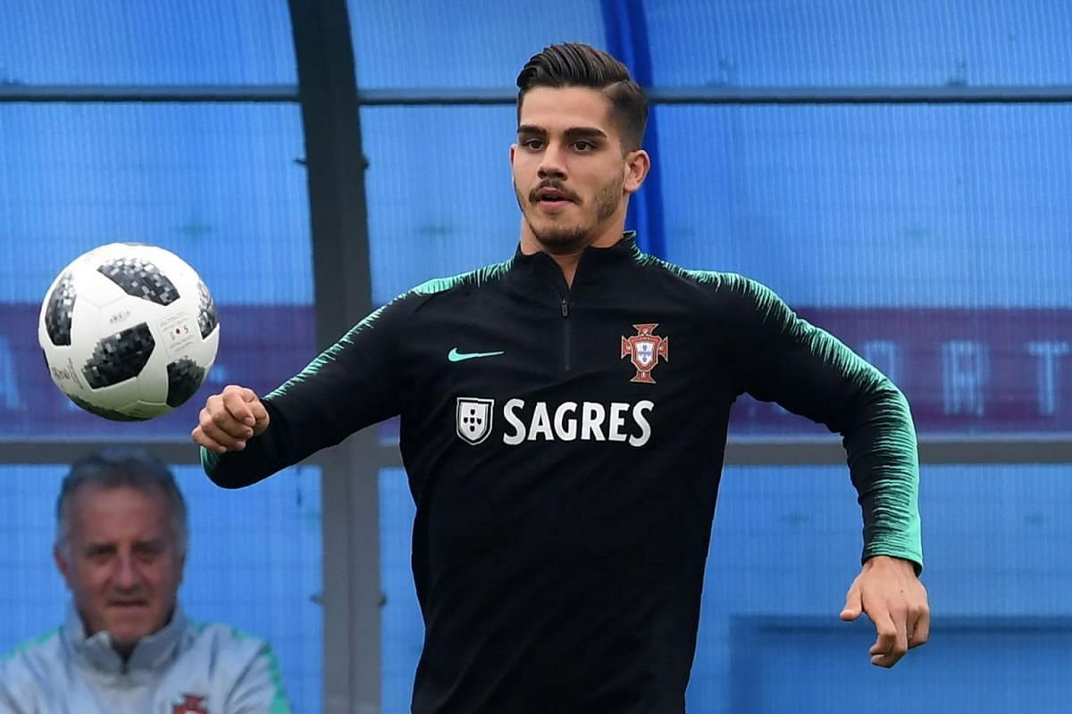 Forward Andre Silva attending a training session with the Portuguese national team in Kratovo, Russia, on June 11, 2018.