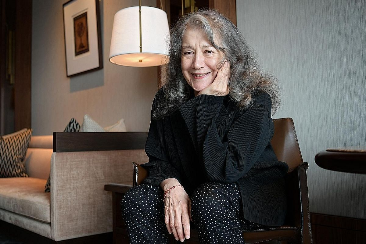 Pianist Martha Argerich has been performing in public for almost 70 years.