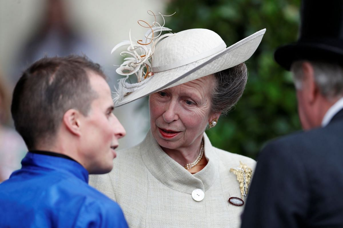 Princess Anne takes a styling tip from her mother with her elegant monochrome outfit and matching hat. PHOTO: REUTERS