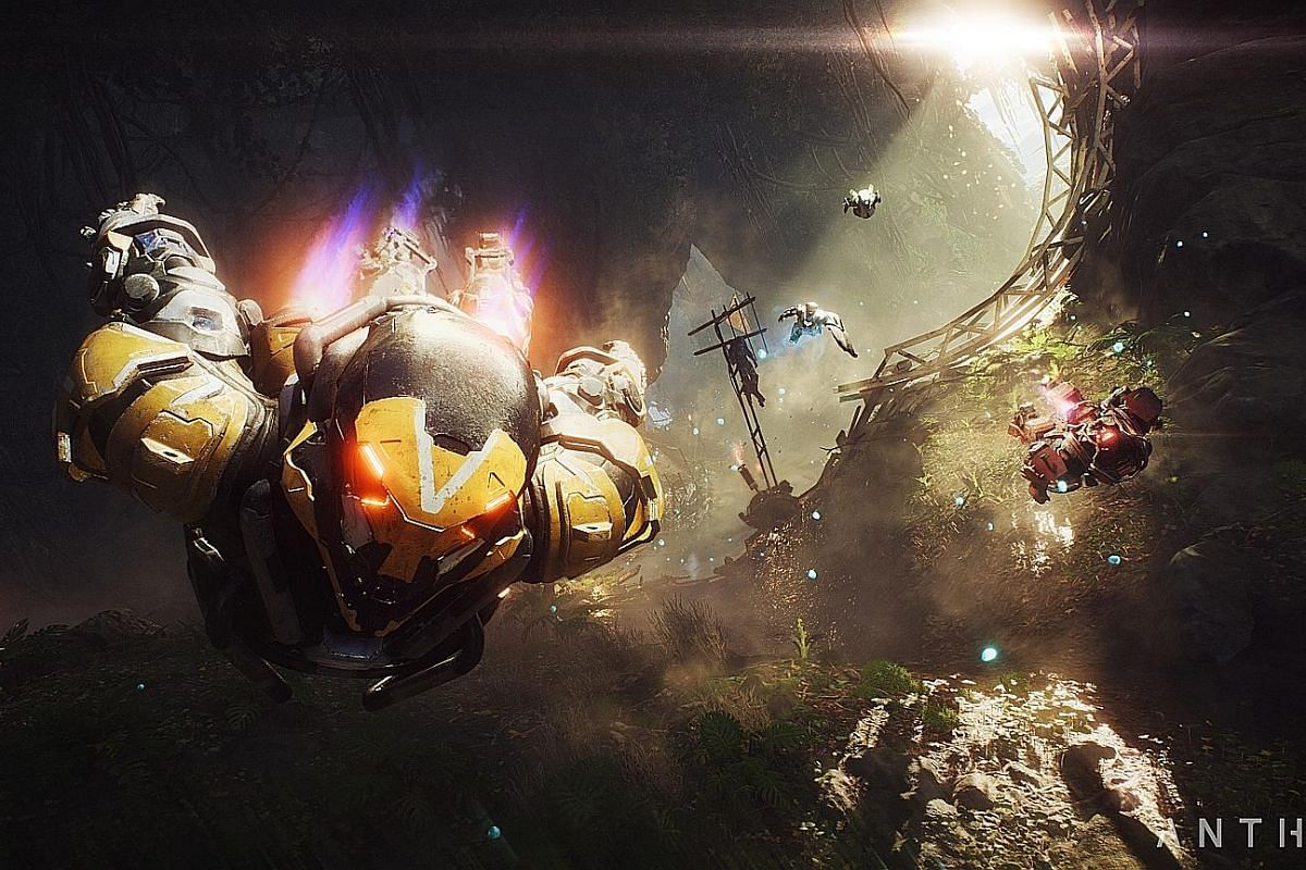 What sets Anthem apart from other shooters is flight - you control an exo-suit to run, hover and fly around.
