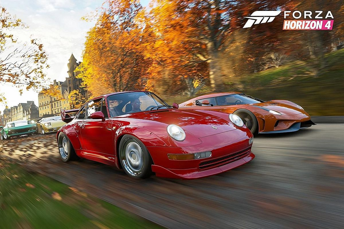The Forza Horizon 4 racing game is set in Britain and looks different and plays differently when the seasons change.