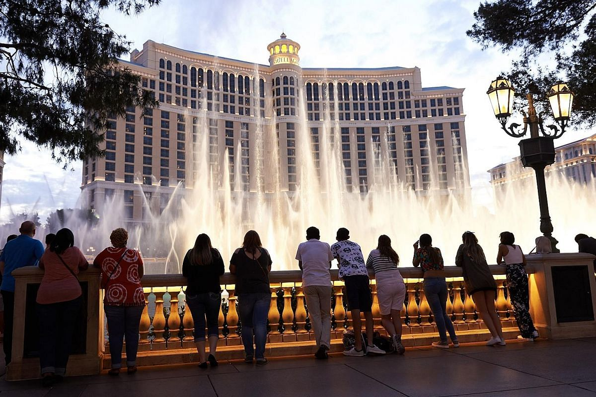 The revamped Park MGM will steal attention from MGM's highest-end hotel, Bellagio (left).