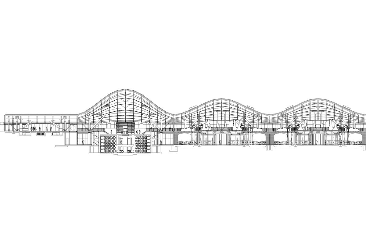 The cross-section of the new £140-million (S$252-million) The Macallan distillery and visitor centre on the Easter Elchies estate.