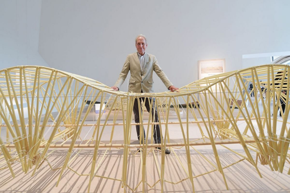 Artist's favourite: Animaris Burchus Uminami (2016-present) Theo Jansen designed most of his Strandbeests with crankshafts, similar to those found in vehicles. The Burchus, or caterpillar-like Strandbeests, replace the crankshaft with spines running along