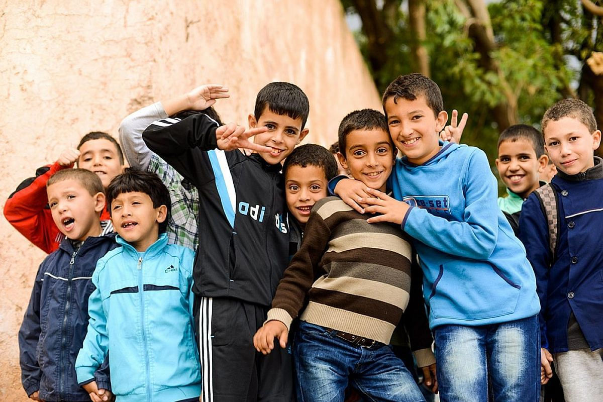 One of the writer's favourite people to meet is large groups of schoolchildren on a field trip. Always an ear-splitting, eye-opening and heartwarming experience, such as this one in Chefchaouen, Morocco. Another side effect of travelling by yourself