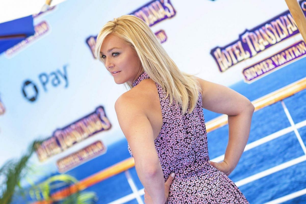 Elisabeth Rohm attends the world premiere of Hotel Transylvania 3: Summer Vacation on June 30, 2018.