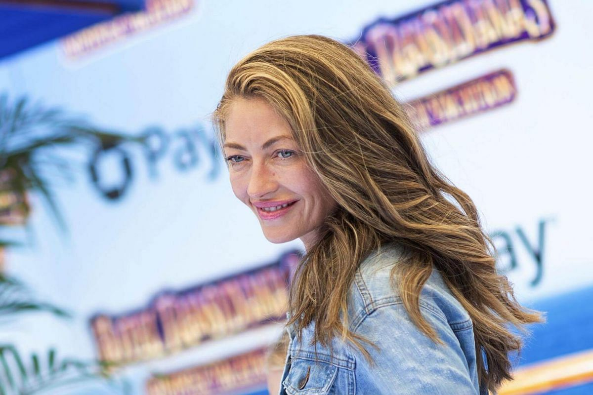 Rebecca Gayheart attends the world premiere of Hotel Transylvania 3: Summer Vacation on June 30, 2018.