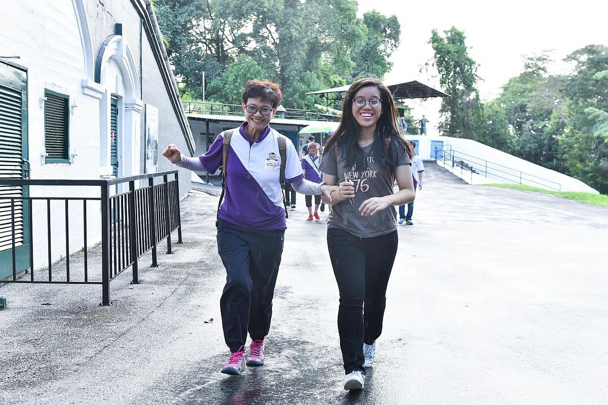 En route to Sentosa island, the seniors broke out in smiles as they looked forward to exploring Fort Siloso. For some of these seniors who lived through World War II, Fort Siloso was the perfect place for them to share some stories of their youth wit
