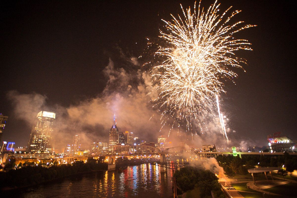 Fireworks are seen at the 2018 Let Freedom Sing! Music City July 4th concert on July 4, 2018, in Nashville, Tennessee.
