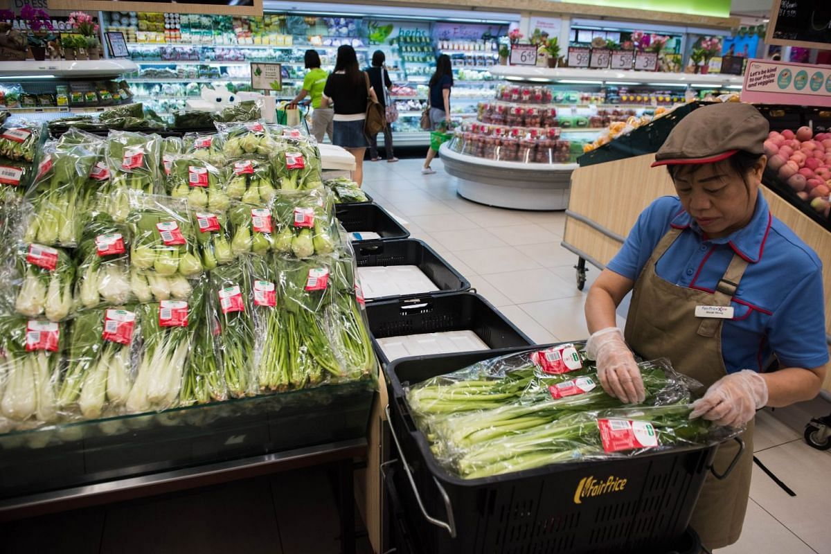FairPrice carries locally grown produce under various brands, including Pasar, Kok Fah Technology Farm and Oh Chin Huat Hydroponic Farms.