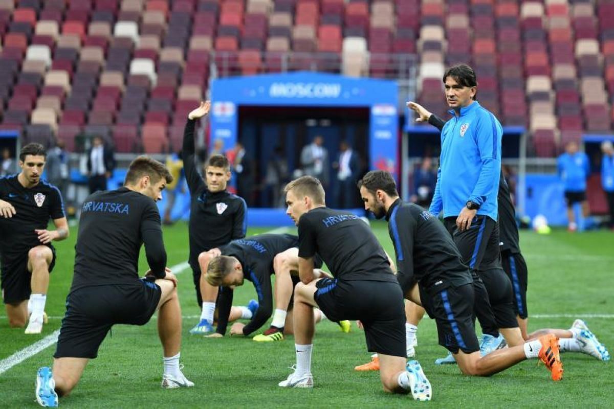 Croatia's coach Zlatko Dalic leads a training session of the Croatian national football team at the Luzhniki Stadium in Moscow on July 10, 2018, on the eve of the Russia 2018 World Cup semi-final football match between Croatia and England.