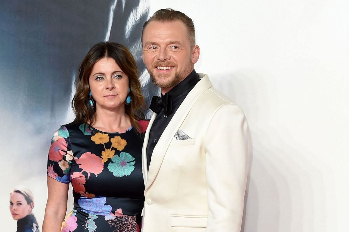 Simon Pegg and his wife Maureen arriving for the premiere of Mission: Impossible - Fallout in London on July 13, 2018.