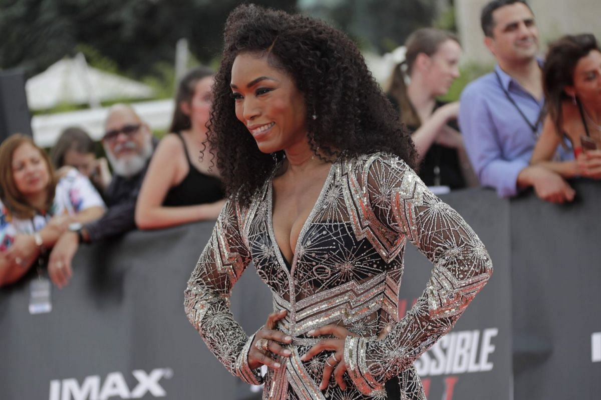 Actress Angela Bassett posing on the red carpet in Paris on July 12, 2018.